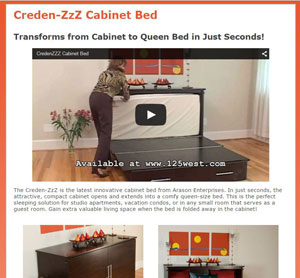 CredenZZZ Cabinet Bed